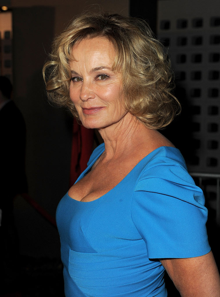 "Jessica Lange arrives at the premiere of FX's ""American Horror Story"" at the ArcLight Cinemas Cinerama Dome on October 3, 2011 in Hollywood, California."