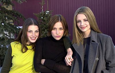 Jessica Pare, Piper Perabo and Mischa Barton of Lost and Delirious Sundance Film Festival 1/21/2001