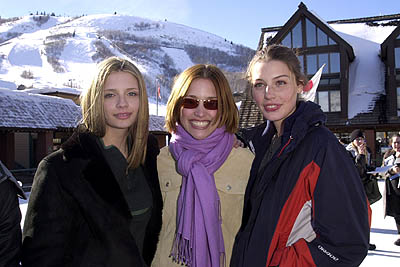 Mischa Barton, Piper Perabo and Jessica Pare The Ice Rink Sundance Film Festival 1/20/2001