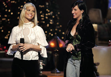 "Jessica Simpson and Ashlee Simpson ABC's ""Nick & Jessica's Family Christmas"""