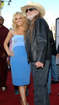 Premiere: Jessica Simpson and Willie Nelson at the Hollywood premiere of Warner Bros. Pictures' The Dukes of Hazzard - 7/28/2005