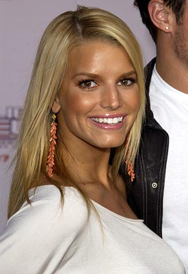 Premiere: Jessica Simpson at the LA premiere of Columbia's Charlie's Angels: Full Throttle - 6/18/2003