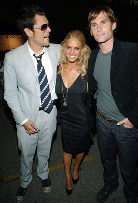 Johnny Knoxville, Jessica Simpson and Seann William Scott MTV Movie Awards 2005 - Backstage Los Angeles, CA - 6/4/05