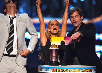 Johnny Knoxville, Jessica Simpson and Seann William Scott MTV Movie Awards 2005 - Show Los Angeles, CA - 6/4/05