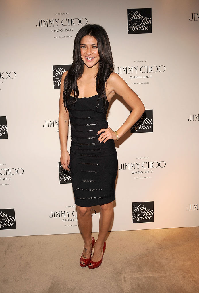 Jessica Szohr attends the Choo 24:7 By Jimmy Choo launch at Saks Fifth Avenue on February 11, 2010 in New York City.