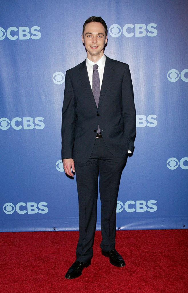 "Jim Parsons (""Big Bang Theory"") attends the 2010 CBS Upfront at The Tent at Lincoln Center on May 19, 2010 in New York City."