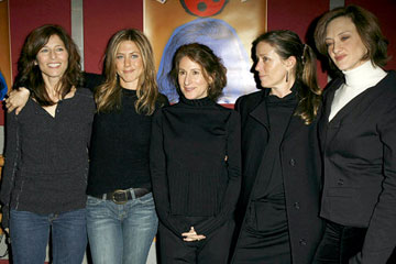 Catherine Keener, Jennifer Aniston, director Nicole Holofcener, Frances McDormand and Joan Cusack Friends With Money Premiere - 1/19/2006 2006 Sundance Film Festival