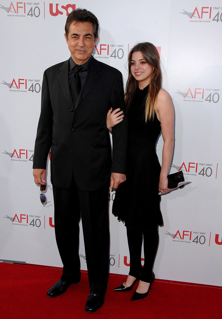 Joe Mantegna and guest at the 35th Annual AFI Life Achievement Award: A Tribute to Al Pacino.
