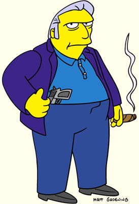 Fat Tony (voiced by Joe Mantegna) Fox's The Simpsons