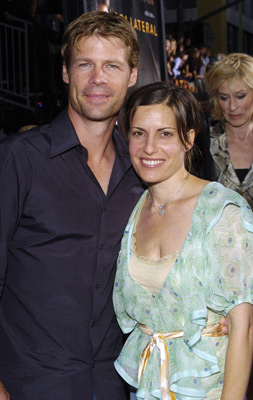 Premiere: Joel Gretsch and wife Melanie Shatner at the LA premiere of Dreamworks SKG's Collateral -2004