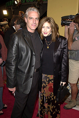 Premiere: Joely Fisher and hubby at the Westwood premiere of New Line's Thirteen Days - 12/19/2000