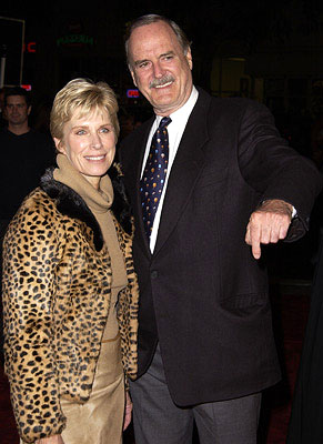 Premiere: John Cleese and wife at the Westwood premiere of Warner Brothers' Harry Potter and The Sorcerer's Stone - 11/14/2001