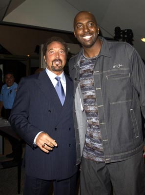 Premiere: Tom Jones and John Salley at the LA premiere of Universal's Intolerable Cruelty - 10/1/2003