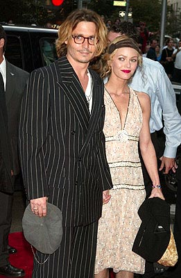 Premiere: Johnny Depp and Vanessa Paradis at the New York premiere of Columbia's Once Upon a Time in Mexico - 9/7/2003