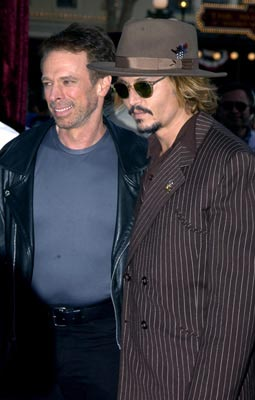 Premiere: Jerry Bruckheimer and Johnny Depp at the LA premiere of Walt Disney's Pirates Of The Caribbean: The Curse of the Black Pearl - 6/28/2003