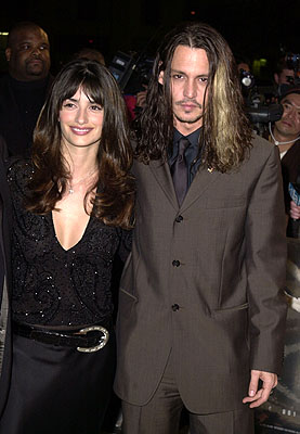 Premiere: Penelope Cruz and Johnny Depp at the Hollywood premiere of New Line's Blow - 3/29/2001