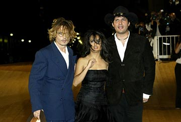 Johnny Depp, Salma Hayek, Robert Rodriguez Once Upon a Time in Mexico Venice Film Festival - 8/29/2003