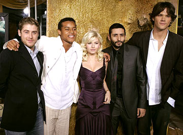 Premiere: Jon Abrahams, Robert Ri'chard, Elisha Cuthbert, director Jaume Collet-Serra and Jared Padalecki at the Westwood premiere of Warner Bros. Pictures' House of Wax - 4/26/2005