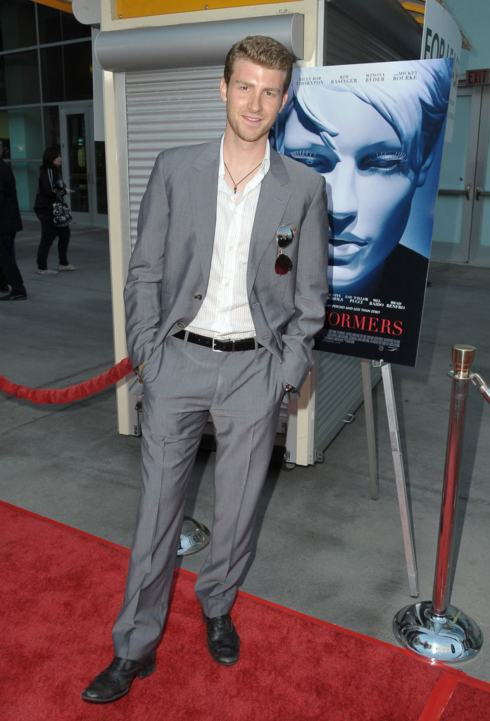 "Jon Foster arrives at the Los Angeles Premiere of ""The Informers"" on April 16, 2009 in Hollywood, California."
