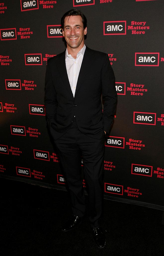 "Jon Hamm (""Mad Men"") attends AMC's 2009 TCA Summer Tour cocktail reception at The Langham Resort on July 28, 2009 in Pasadena, California."