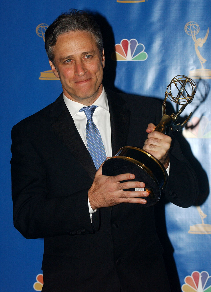 "Jon Stewart, winner Outstanding Variety, Music or Comedy Series for ""The Daily Show with Jon Stewart"" at the 58th Annual Primetime Emmy Awards.  August 27, 2006"