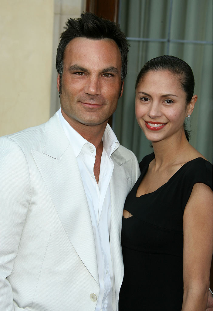 Jonathan Antin and wife Sescie attend Chrysalis's 5th Annual Butterfly Ball at the Italian villa of Carla and Fred Sands in Bel Air, California on June 10, 2006.