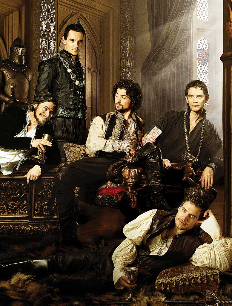Hans Matheson as Thomas Cranmer, Jonathan Rhys Meyers stars as Henry VIII , David Alpay as Mark Smeaton , James Frain stars as Thomas Cromwell , and Henry Cavill stars as Charles Brandon in The Tudors.