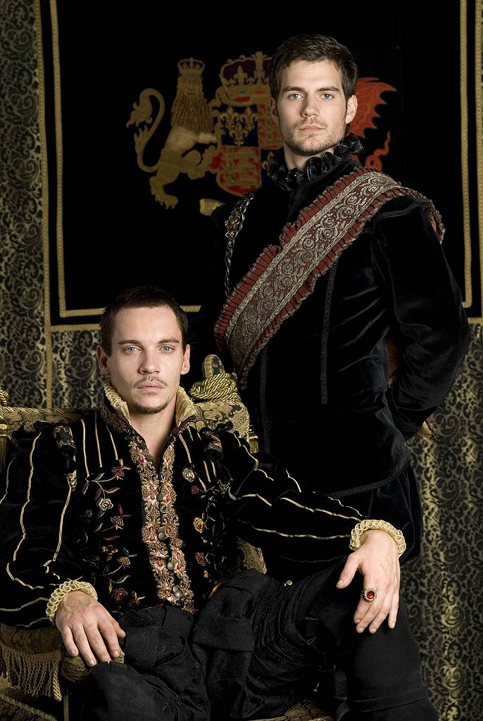 Jonathan Rhys Meyers stars as Henry VIII and Henry Cavill stars as Charles Brandon in The Tudors.