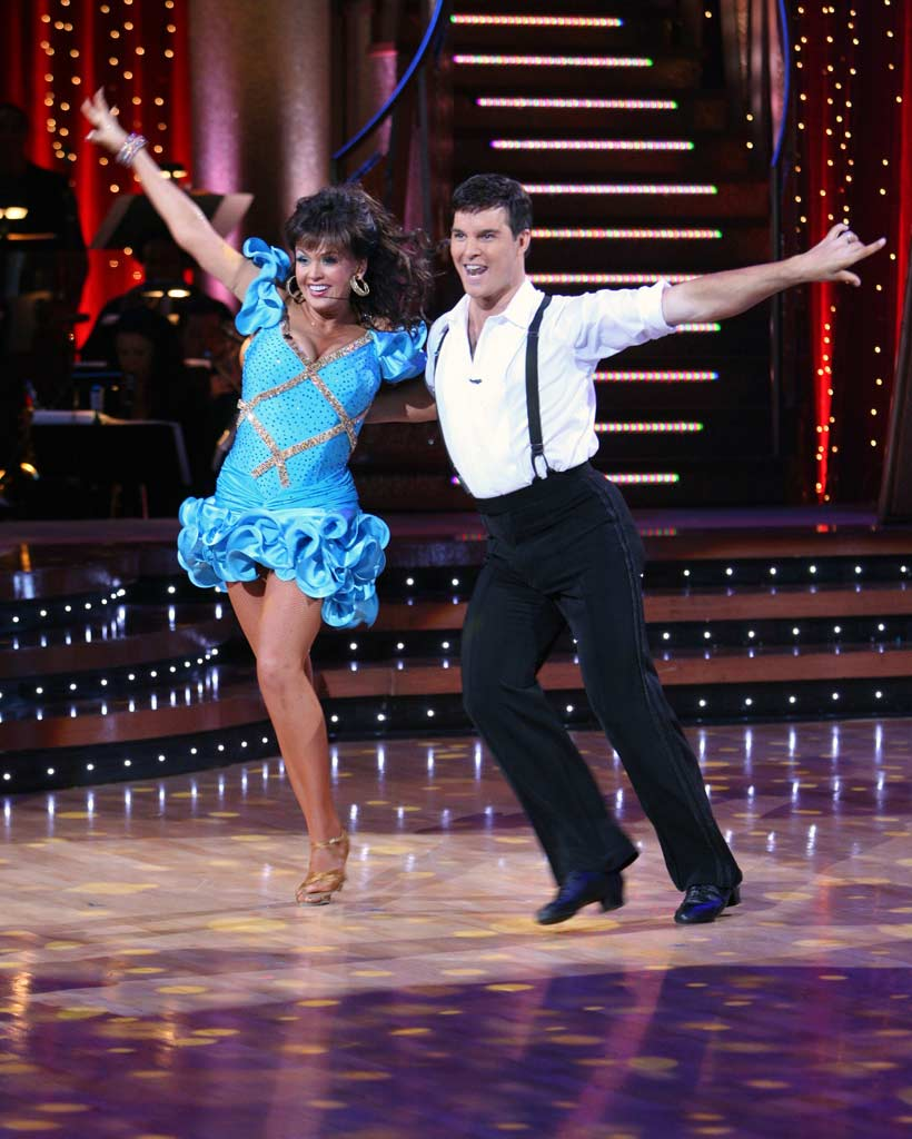 Marie Osmond and Jonathan Roberts perform a dance on the 5th season of Dancing with the Stars.