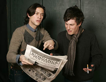 Joseph Gordon Levitt and Noah Segan of Brick Sundance Film Festival - 1/22/2005