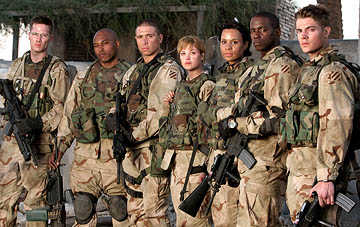 "Luke MacFarlane, Sticky Fingaz, Erik Palladino, Nicki Lynn Aycox, Lizette Carrion, Keith D. Robinson, Josh Henderson ""Over There"" on FX"