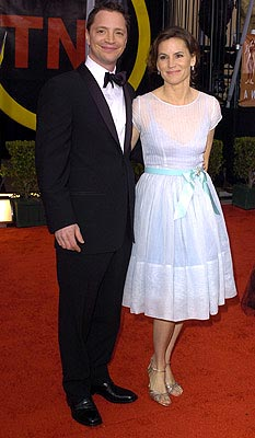 Joshua Malina and wife Melissa Merwin Screen Actors Guild Awards 2/22/2004