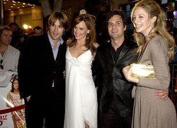 Premiere: Sam Ball, Jennifer Garner, Mark Ruffalo and Judy Greer at the L.A. premiere of Revolution Studios' 13 Going on 30 - 4/14/2004