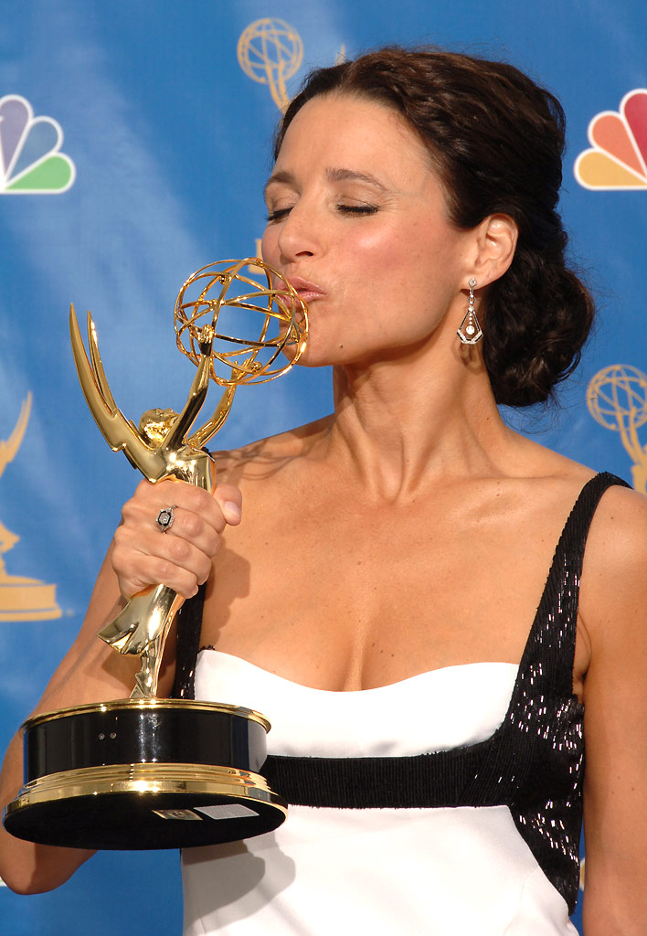"Julia Louis-Dreyfus, winner of Outstanding Lead Actress in a Comedy Series for ""The New Adventures of Old Christine"" at The 58th Annual Primetime Emmy Awards."