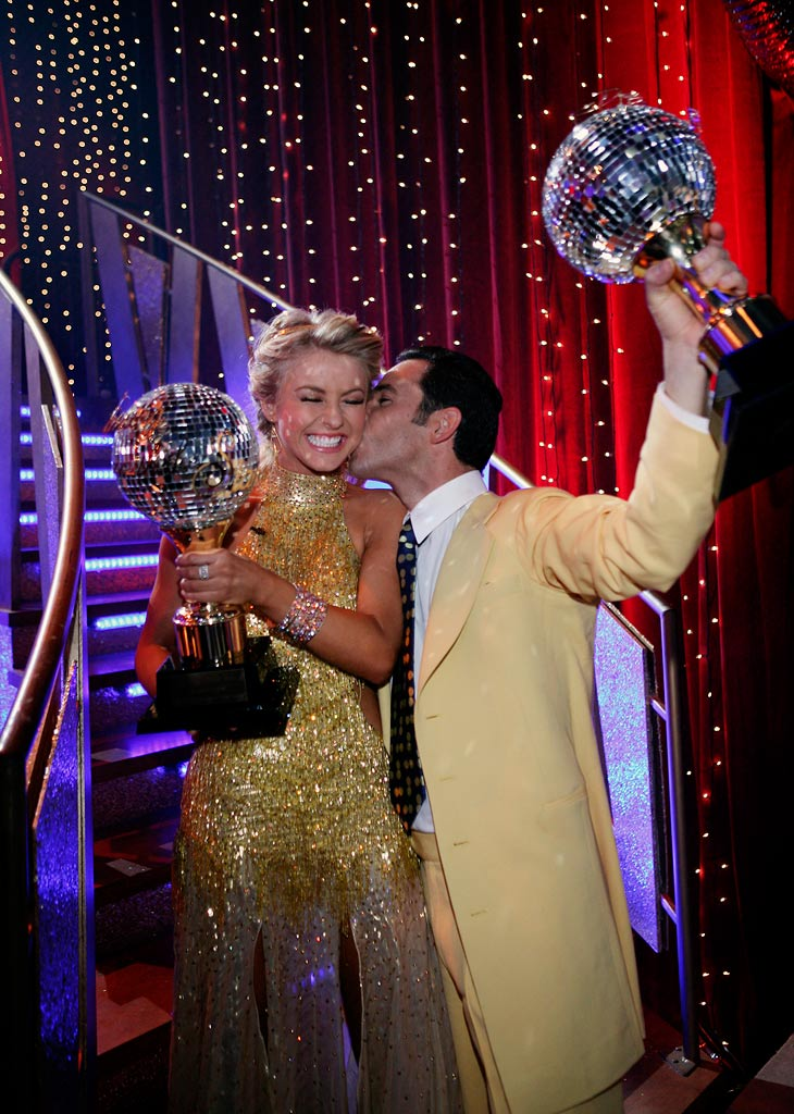 The two-time Indianapolis 500 Champion Helio Castroneves  and his professional partner Julianne Hough were crowned champions on the fifth season of Dancing with the Stars.
