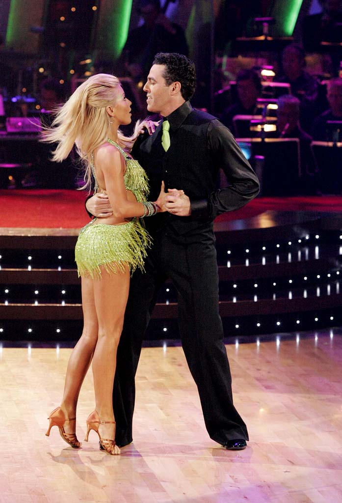 Julianne Hough and Adam Carolla perform a dance on the sixth season of Dancing with the Stars.