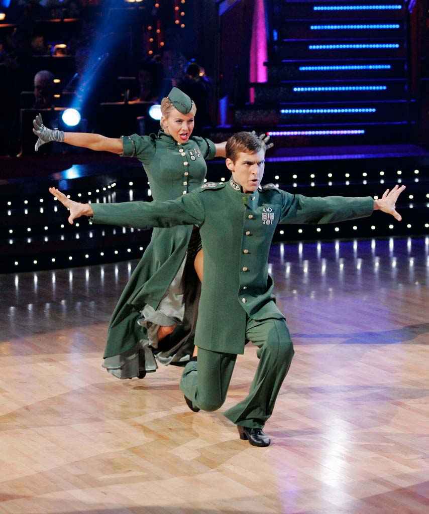 Cody Linley and Julianne Hough perform a dance on the seventh season of Dancing with the Stars.