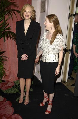 Nicole Kidman (Best Actress Nominee, The Hours) and Julianne Moore (Best Supporting Actress Nominee, The Hours) 75th Academy Awards Luncheon Beverly Hills, CA 3/10/2003