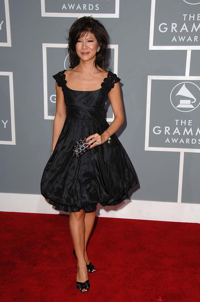 Julie Chen at The 49th Annual GRAMMY Awards.