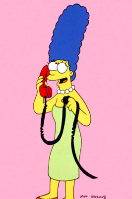 Marge Simpson (voiced by Julie Kavner) Fox's The Simpsons
