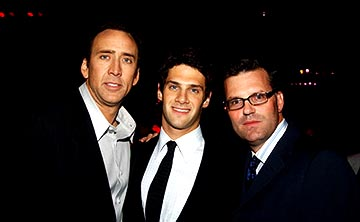 Premiere: Nicolas Cage, Justin Bartha and Chad Oman at the LA premiere of Touchstone's National Treasure - 11/8/2004