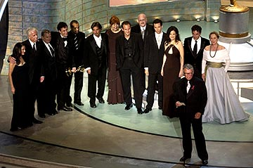 "Mike Nichols and the cast and crew of ""Angels in America"" Outstanding Miniseries or Movie Emmy Awards - 9/19/2004 Justin Kirk"