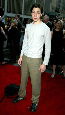 Premiere: Justin Long at the New York premiere of Warner Brothers' Murder By Numbers - 4/16/2002