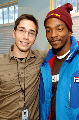 Justin Long and Anthony Mackie Cafe Yahoo - 1/21/2006 2006 Sundance Film Festival