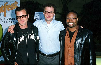 Premiere: Justin Theroux, Ben Weber and Billy Porter at the Egyptian Theatre premiere of Sony Pictures Classics' The Broken Hearts Club - 7/17/2000