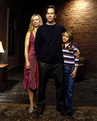 "Kari Matchett as Claudia, Timothy Hutton as J.T. and Gage Golightly as Jesse Sci-Fi Network's ""Five Days to Midnight"""