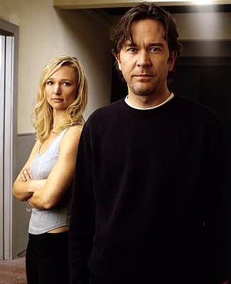 "Kari Matchett as Claudia and Timothy Hutton as J.T. Sci-Fi Network's ""5 Days to Midnight"""