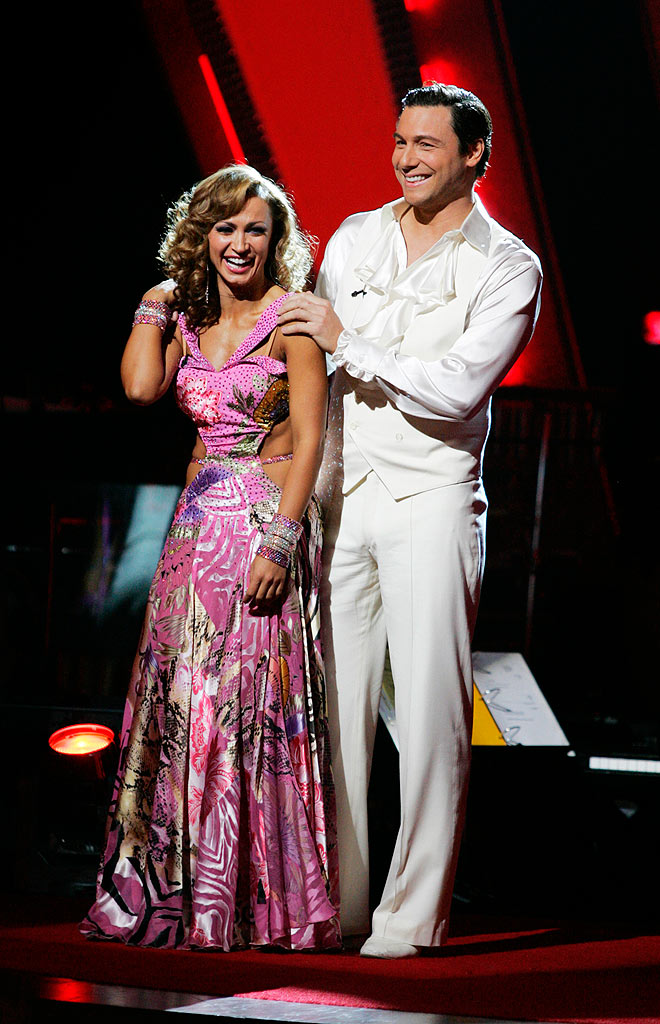Karina Smirnoff and Rocco DiSpirito are the couple with the lowest combined score on the seventh season of Dancing with the Stars.