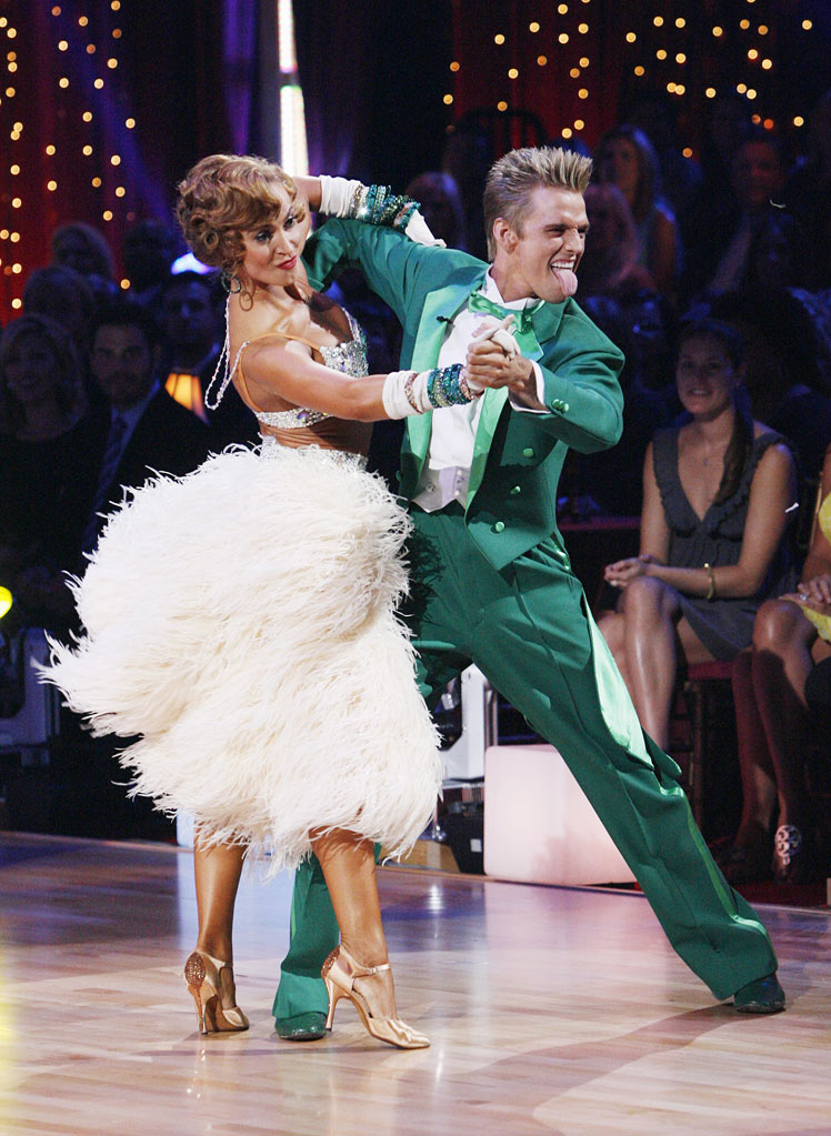 "Aaron Carter and Karina Smirnoff perform the Quickstep to ""The Muppet Show Theme"" from ""The Muppet Show"" on ""Dancing with the Stars."""