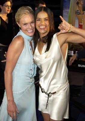 Premiere: Kate Bosworth and Michelle Rodriguez at the LA premiere of Universal's Blue Crush - 8/8/2002